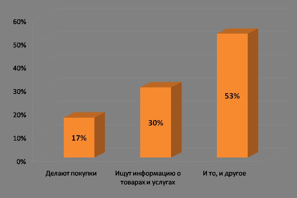 Что делают пользователи в интернет-магазинах, 2009 год